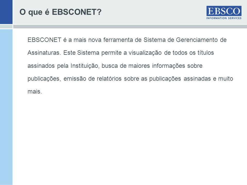 O que é EBSCONET