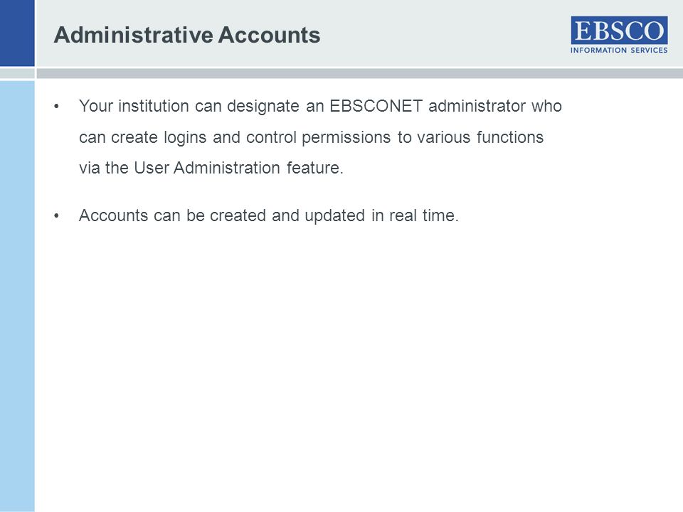 Administrative Accounts