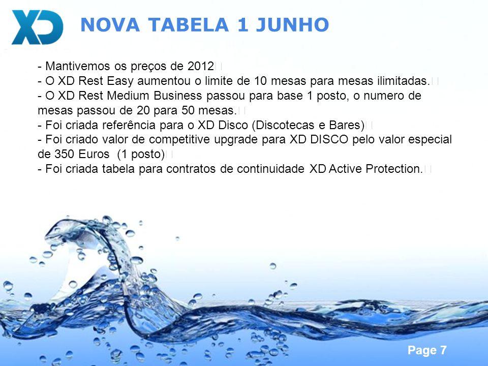 NOVA TABELA 1 JUNHO - Mantivemos os preços de 2012
