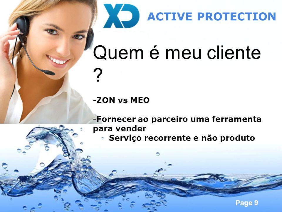 Quem é meu cliente ACTIVE PROTECTION ZON vs MEO