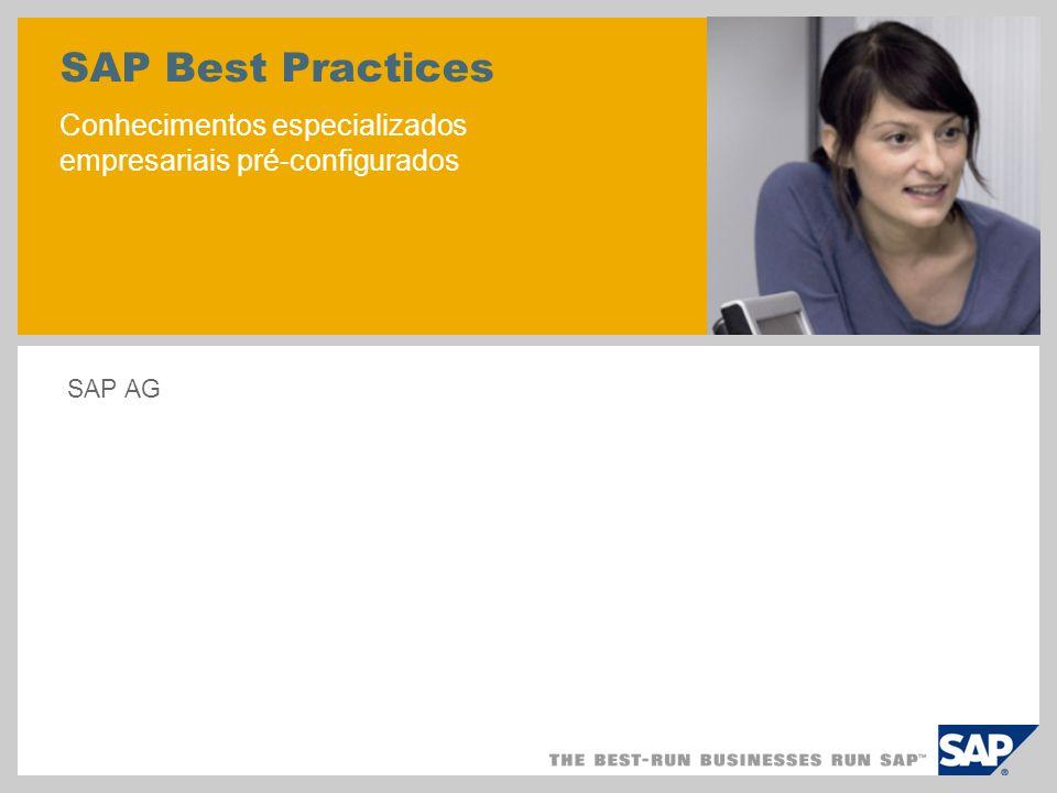 SAP Best Practices Conhecimentos especializados empresariais pré-configurados