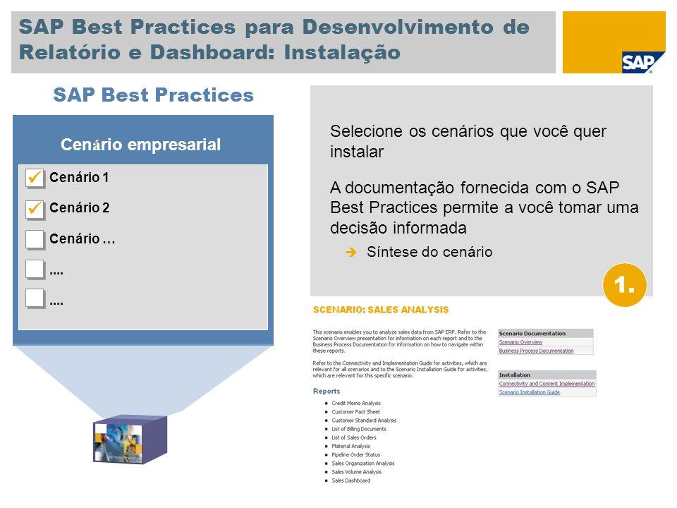 SAP Best Practices para Desenvolvimento de Relatório e Dashboard: Instalação