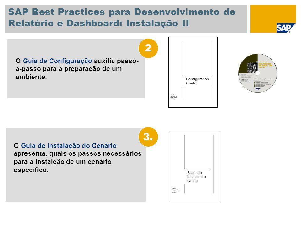 SAP Best Practices para Desenvolvimento de Relatório e Dashboard: Instalação II