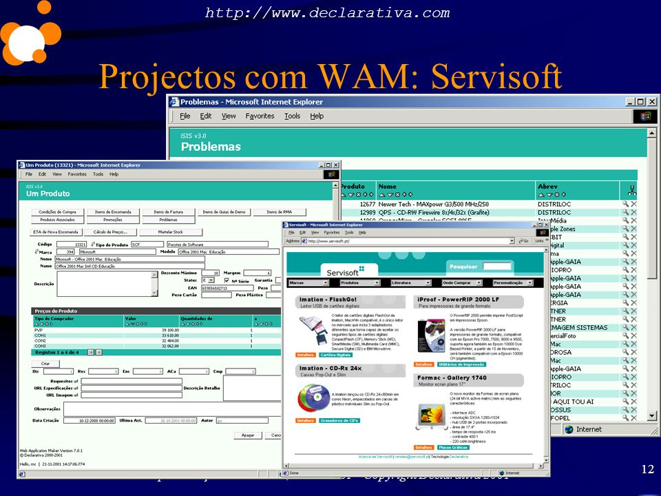 Projectos com WAM: Servisoft