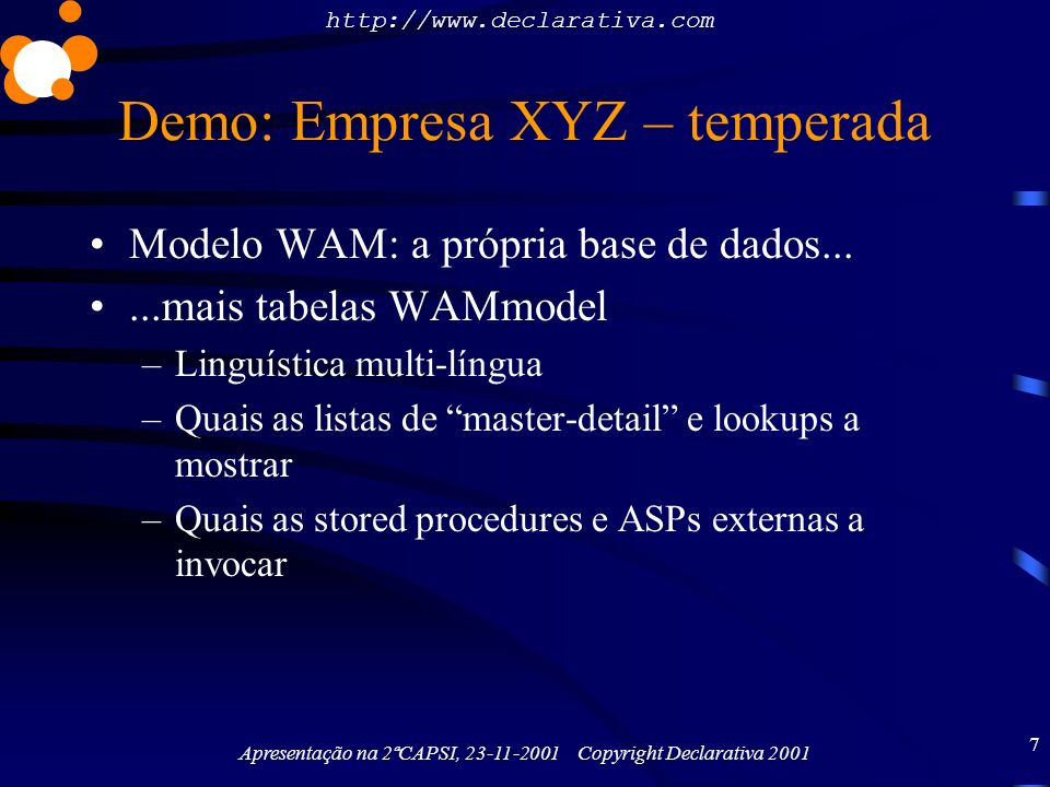 Demo: Empresa XYZ – temperada