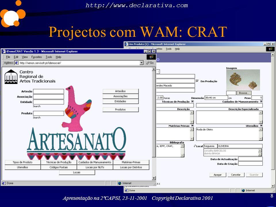 Projectos com WAM: CRAT