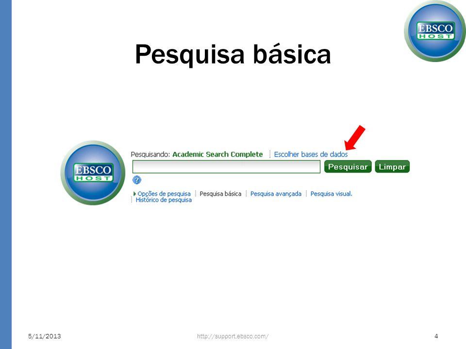 Pesquisa básica 23/03/2017 http://support.ebsco.com/