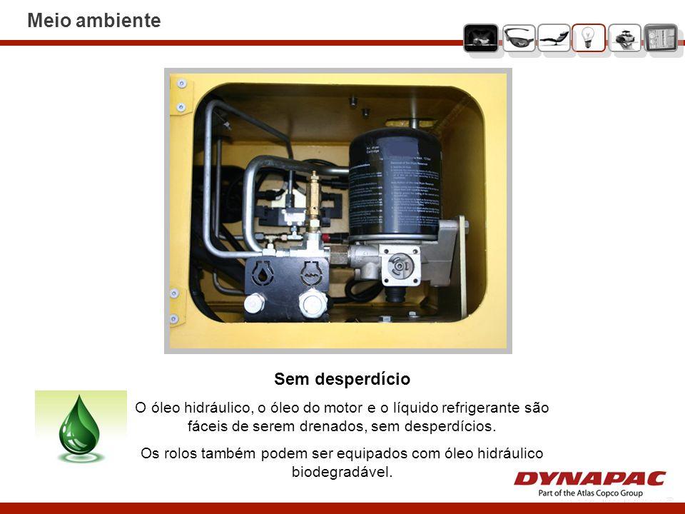 Os rolos também podem ser equipados com óleo hidráulico biodegradável.