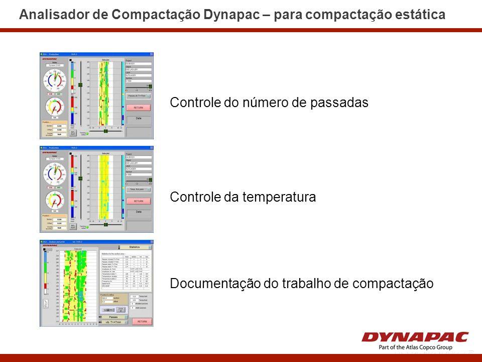 Analisador de Compactação Dynapac – para compactação estática