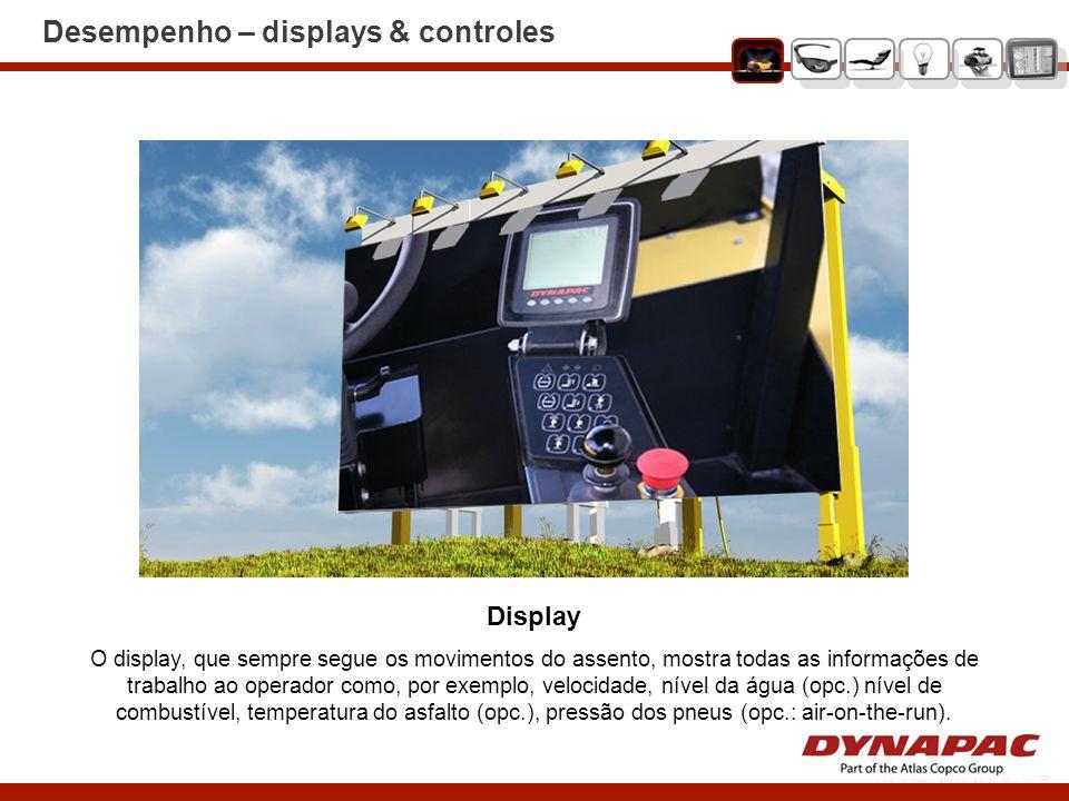 Desempenho – displays & controles