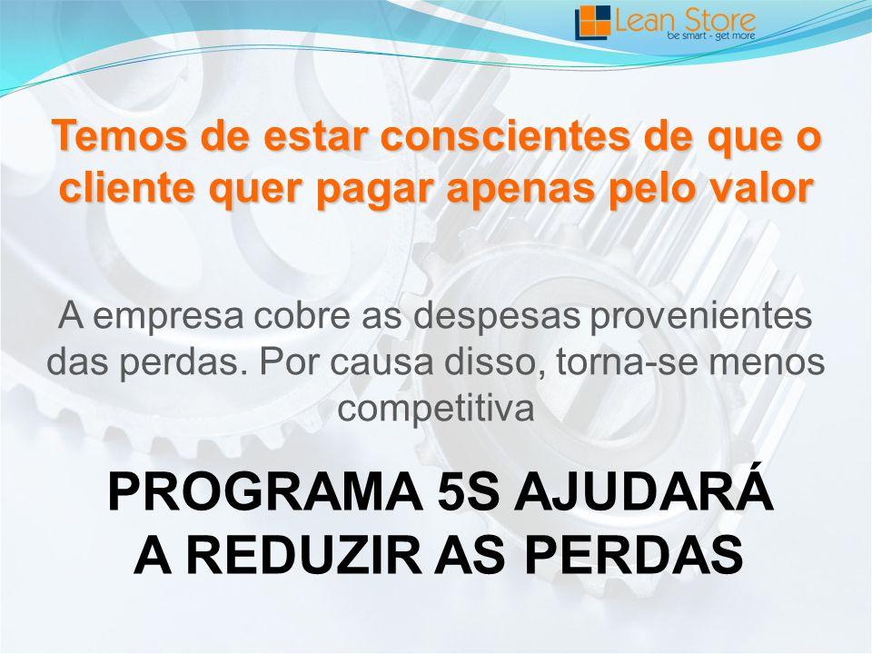 PROGRAMA 5S AJUDARÁ A REDUZIR AS PERDAS