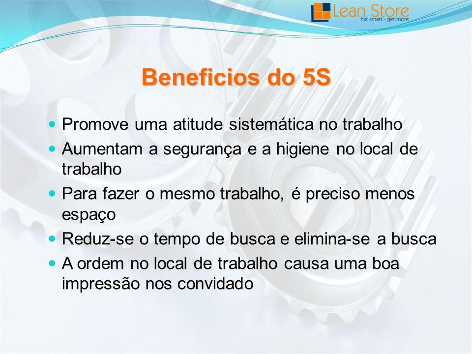 Beneficios do 5S Promove uma atitude sistemática no trabalho