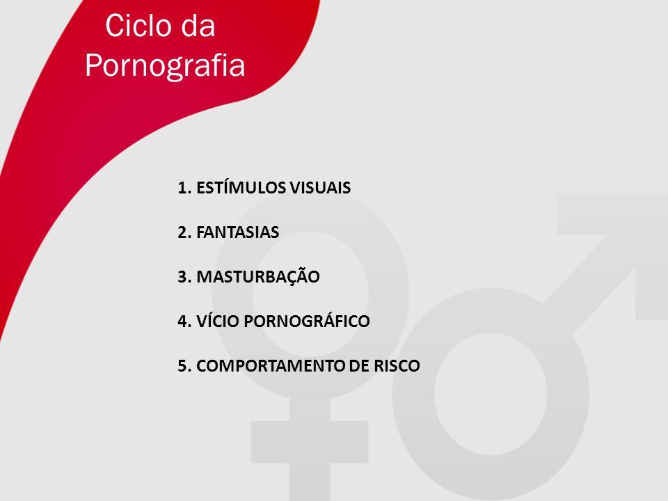 Ciclo da Pornografia 1. ESTÍMULOS VISUAIS 2. FANTASIAS 3. MASTURBAÇÃO