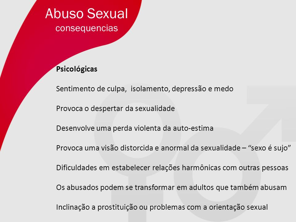 Abuso Sexual consequencias Psicológicas