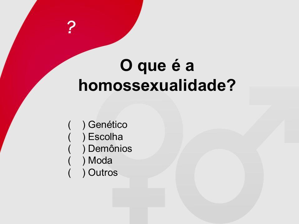 O que é a homossexualidade