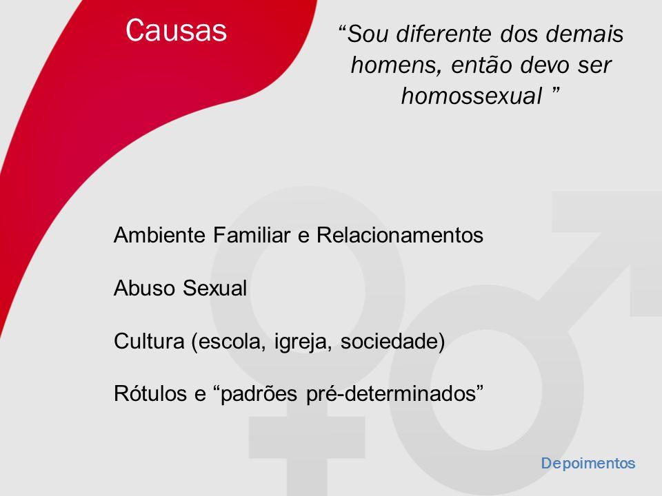 Sou diferente dos demais homens, então devo ser homossexual
