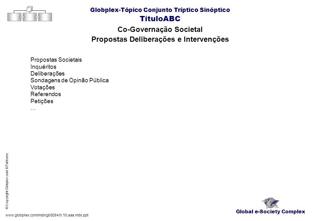 Co-Governação Societal Propostas Deliberações e Intervenções