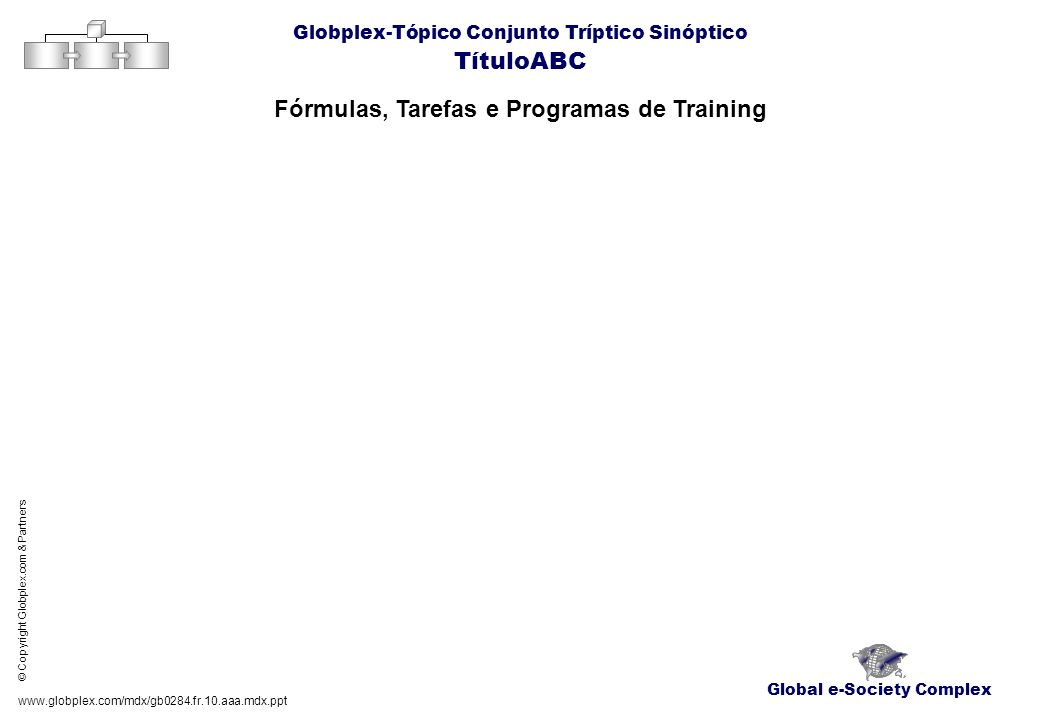 Fórmulas, Tarefas e Programas de Training