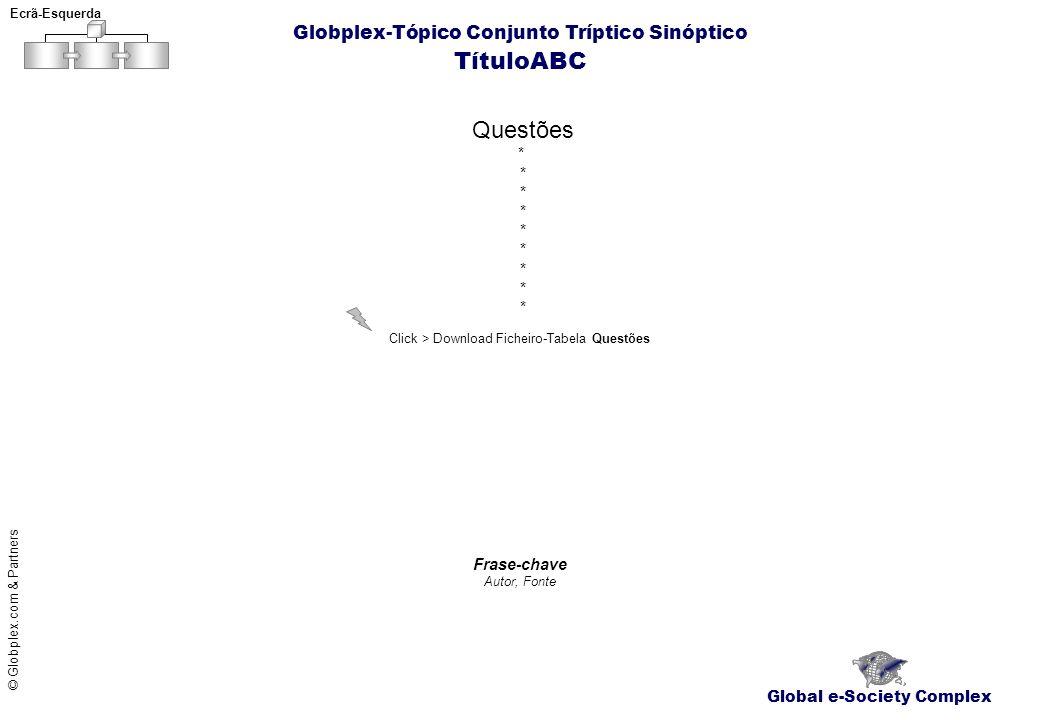 TítuloABC Questões Globplex-Tópico Conjunto Tríptico Sinóptico *