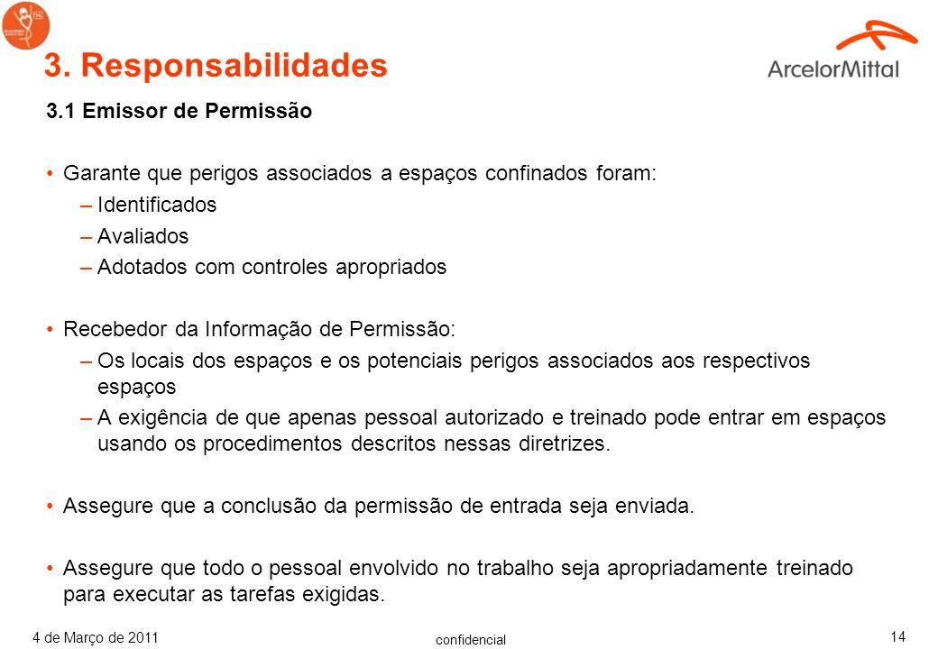 3. Responsabilidades 3.1 Emissor de Permissão