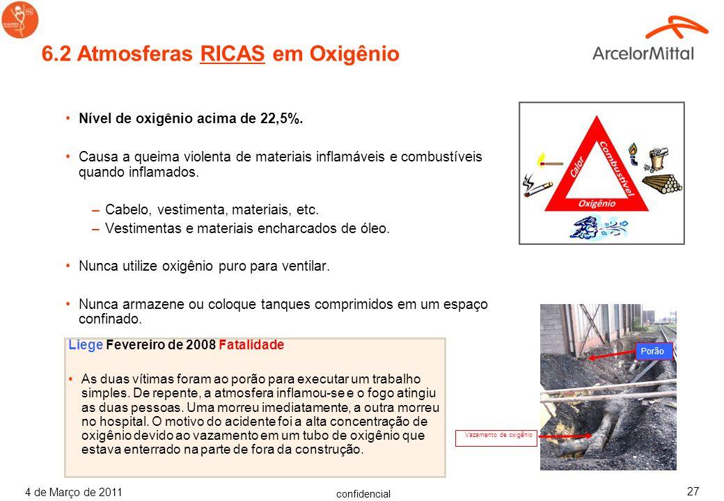6.2 Atmosferas RICAS em Oxigênio