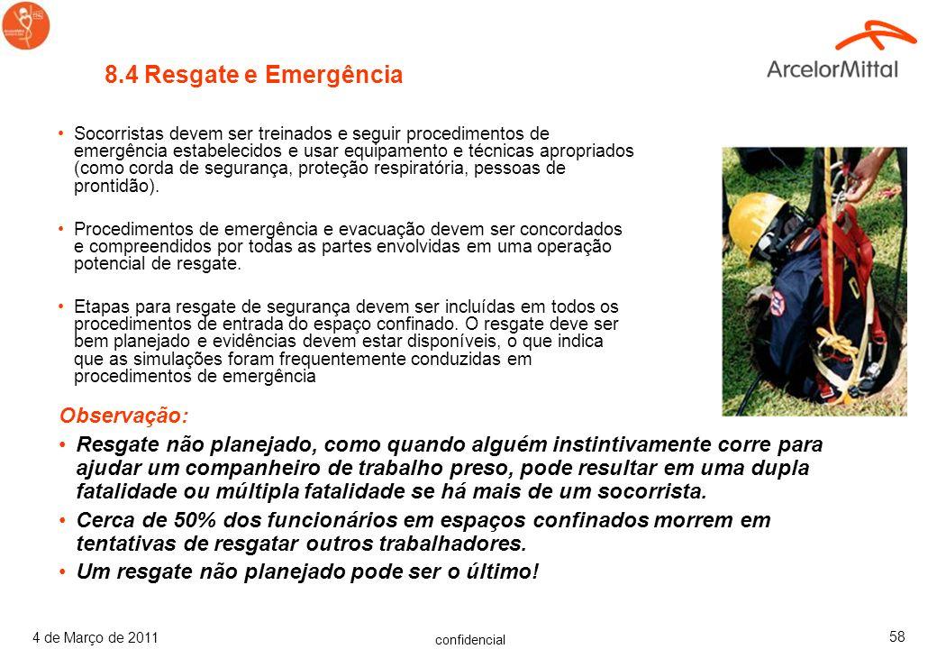 8.4 Resgate e Emergência Observação: