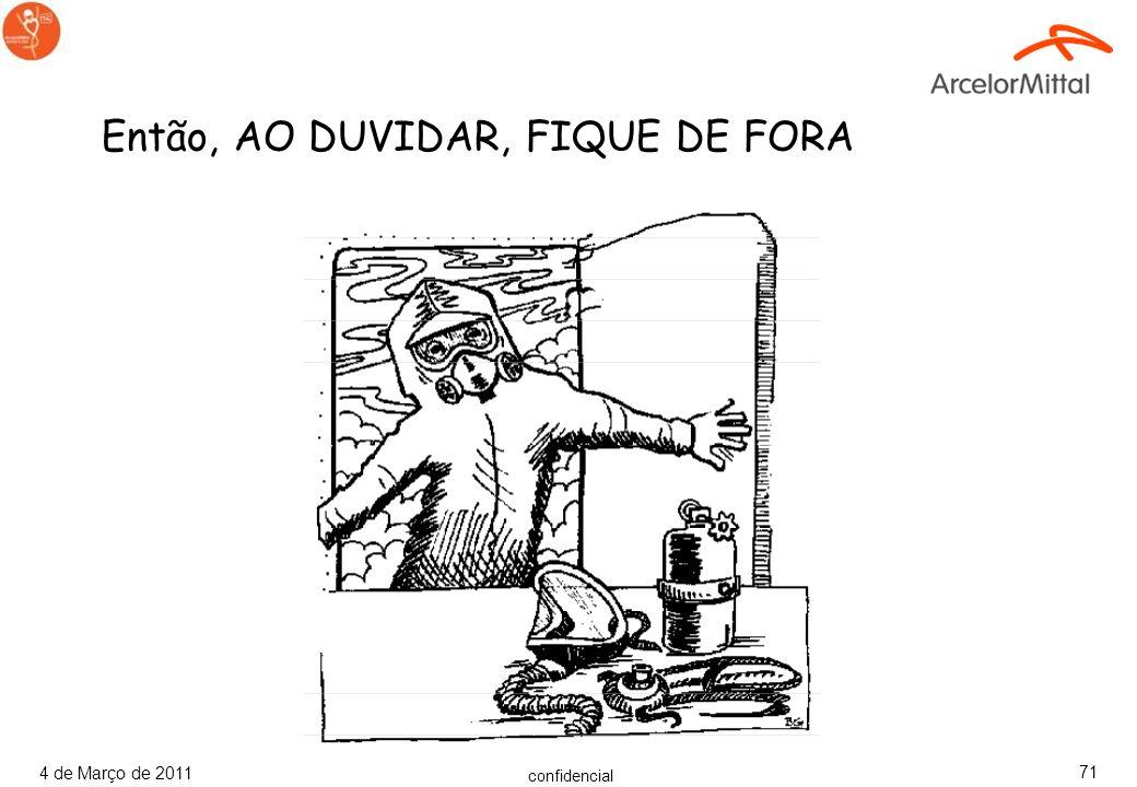 Então, AO DUVIDAR, FIQUE DE FORA