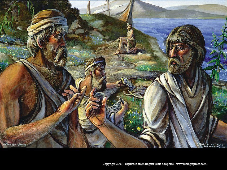 De pescar peixes, a seguir a Cristo e pescar homens, 4:12-25