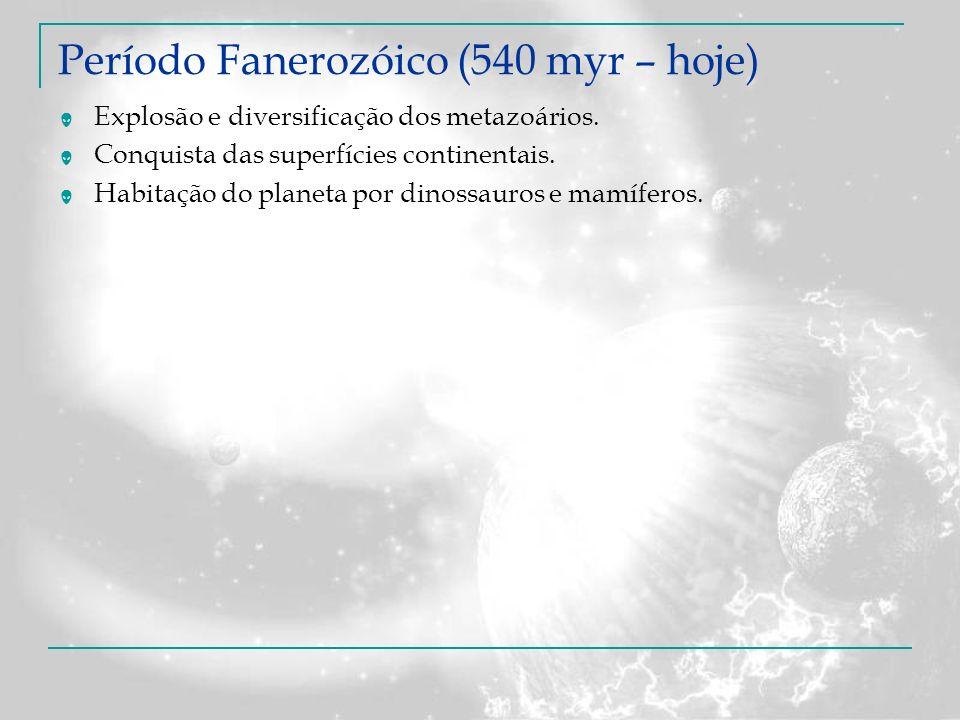 Período Fanerozóico (540 myr – hoje)