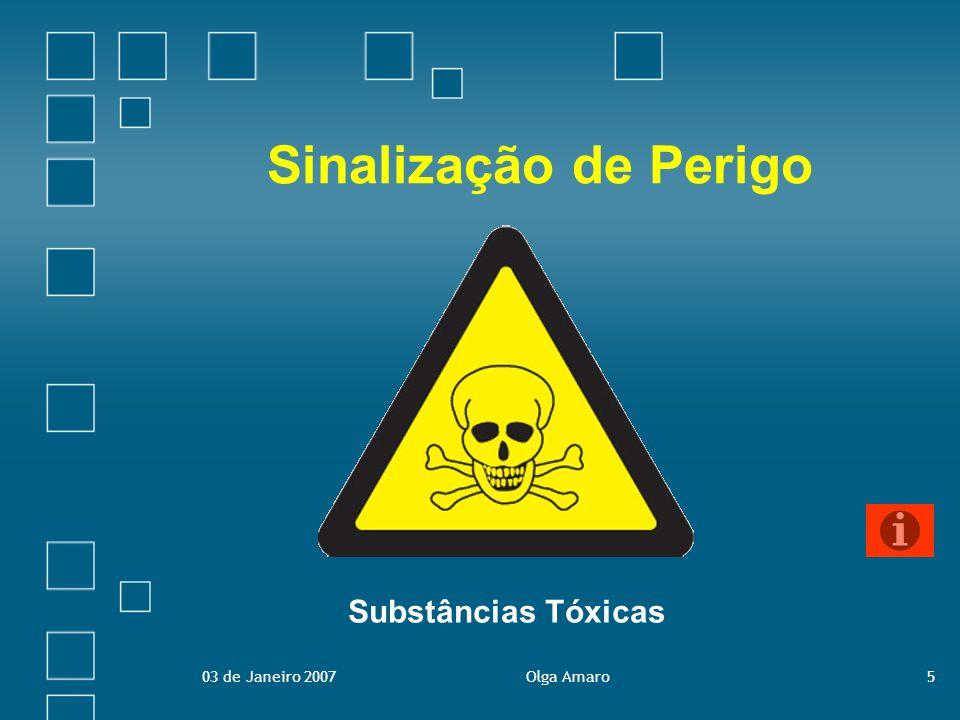 Sinalização de Perigo Substâncias Tóxicas 03 de Janeiro 2007