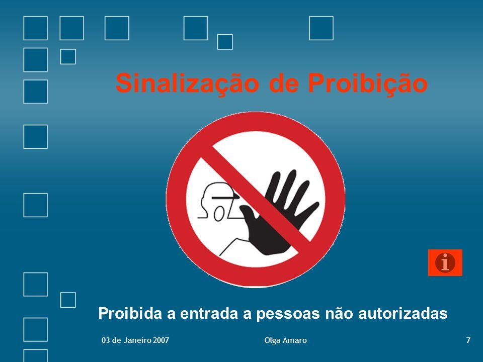 Sinalização de Proibição