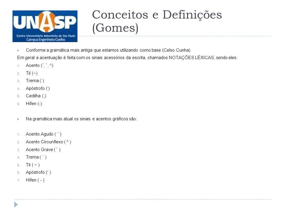 Conceitos e Definições (Gomes)