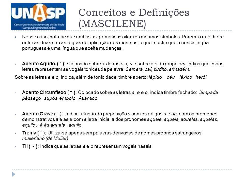 Conceitos e Definições (MASCILENE)