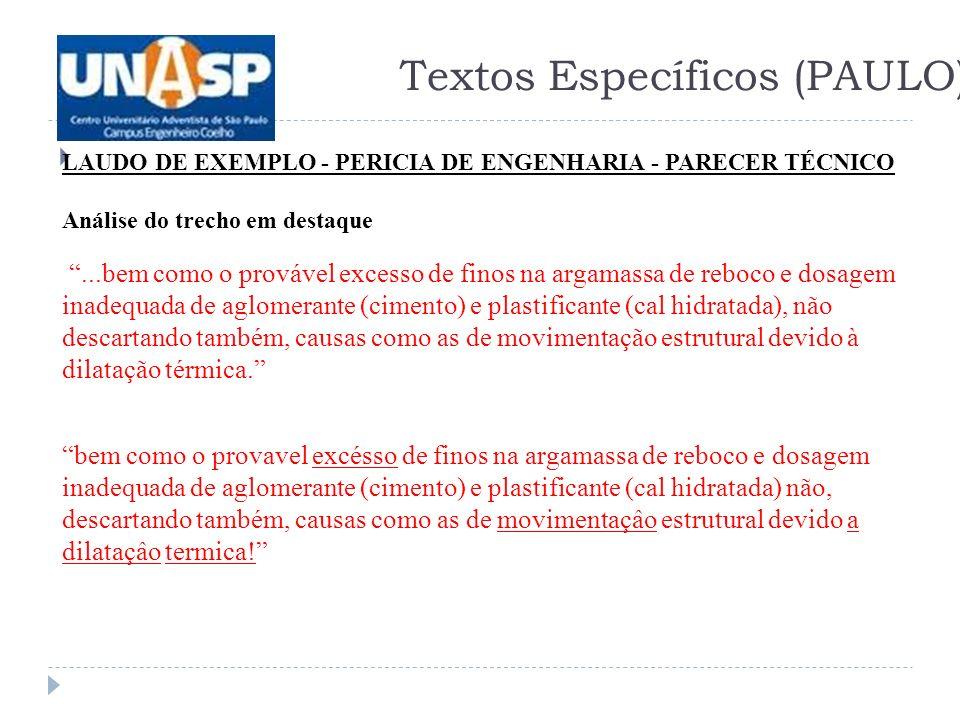 Textos Específicos (PAULO)