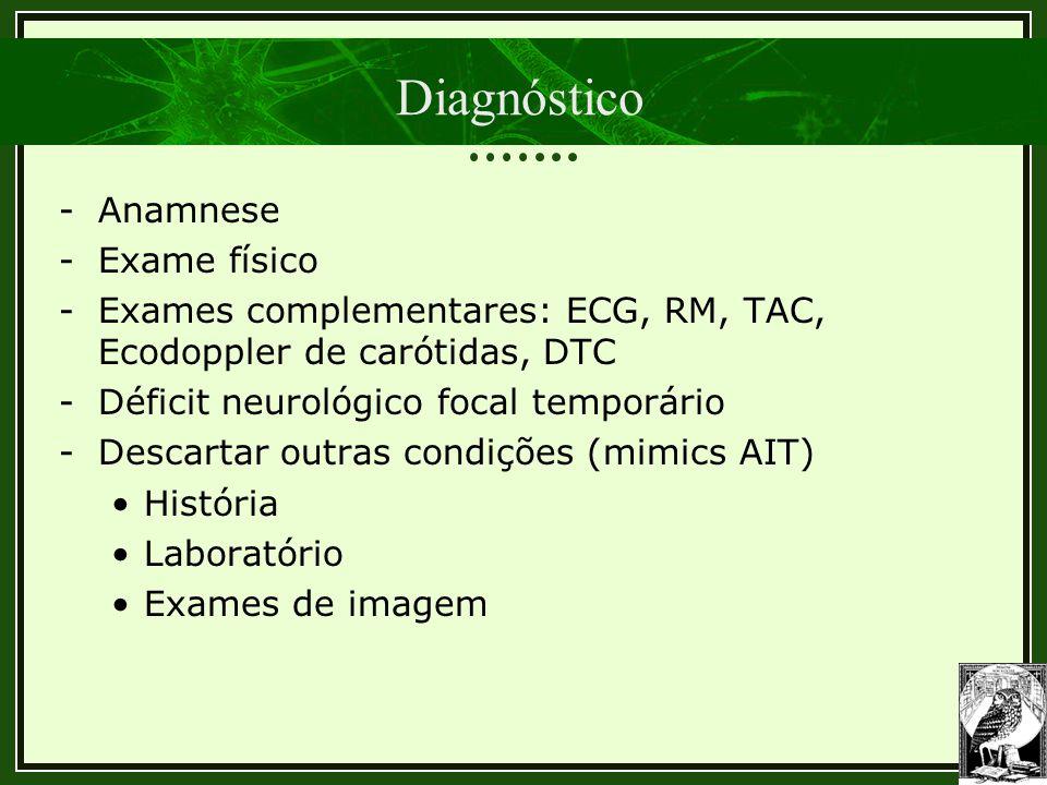 Diagnóstico Anamnese Exame físico