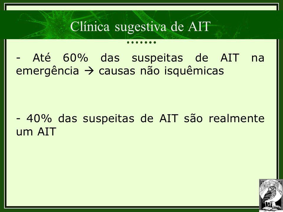 Clínica sugestiva de AIT