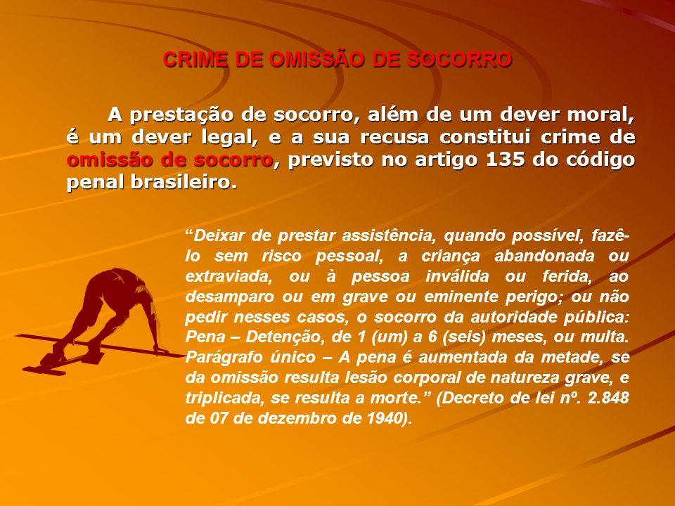 CRIME DE OMISSÃO DE SOCORRO