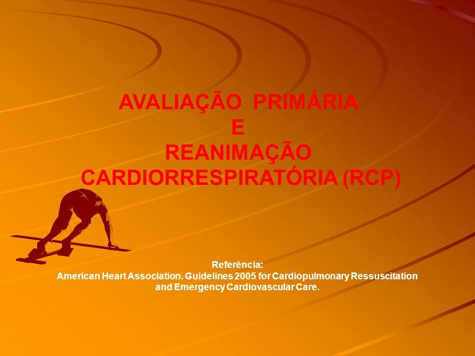 AVALIAÇÃO PRIMÁRIA E REANIMAÇÃO CARDIORRESPIRATÓRIA (RCP)