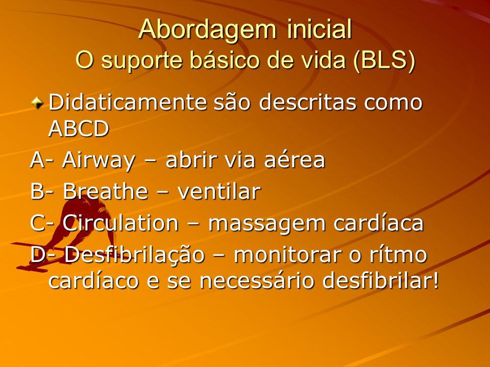 Abordagem inicial O suporte básico de vida (BLS)