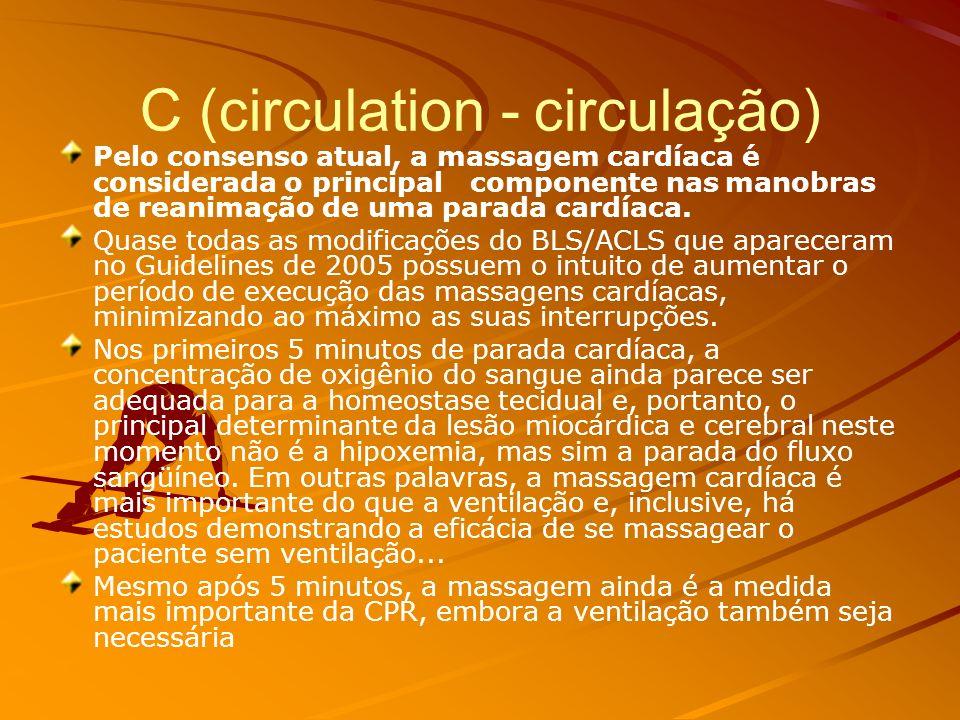 C (circulation - circulação)