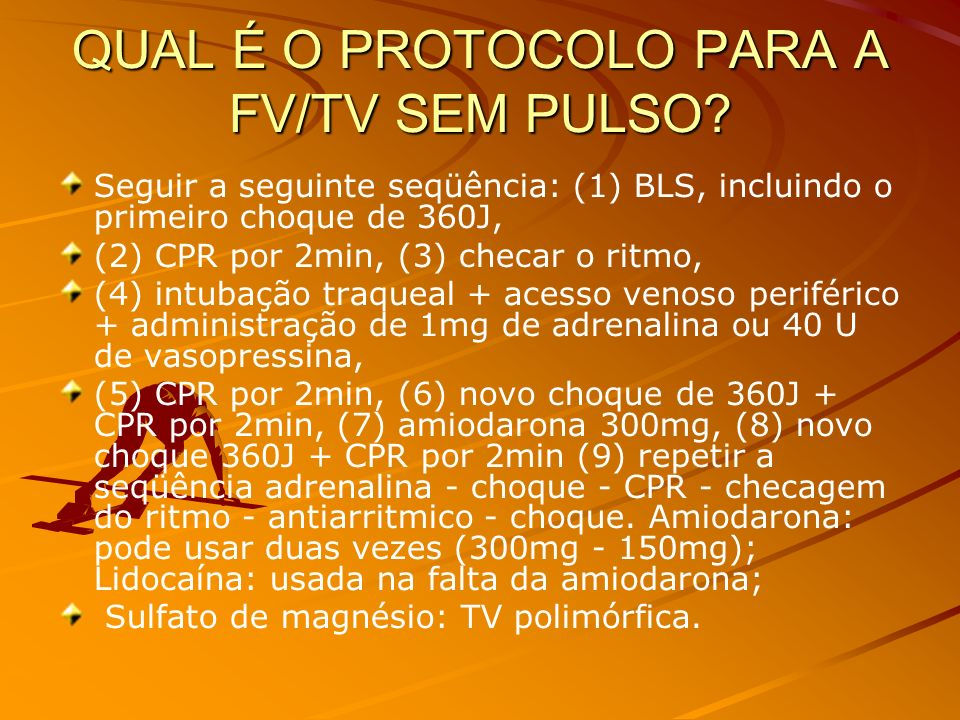 QUAL É O PROTOCOLO PARA A FV/TV SEM PULSO