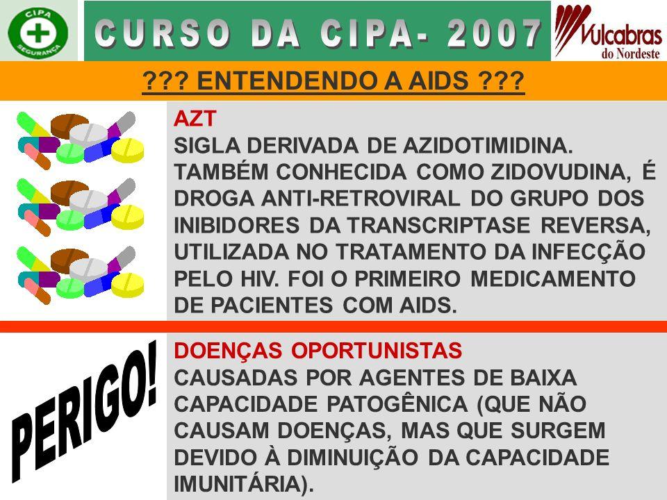 CURSO DA CIPA- 2007 PERIGO! ENTENDENDO A AIDS AZT