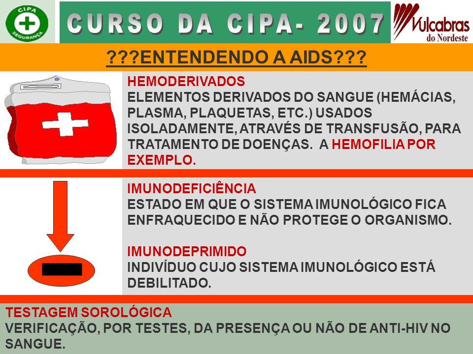 CURSO DA CIPA- 2007 - ENTENDENDO A AIDS HEMODERIVADOS