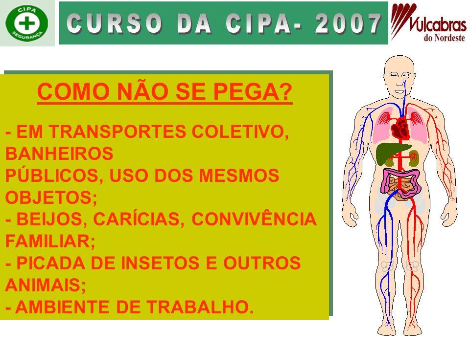 CURSO DA CIPA- 2007 COMO NÃO SE PEGA