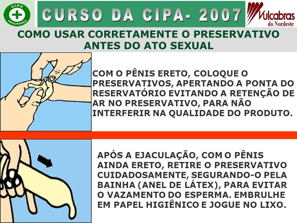 COMO USAR CORRETAMENTE O PRESERVATIVO ANTES DO ATO SEXUAL
