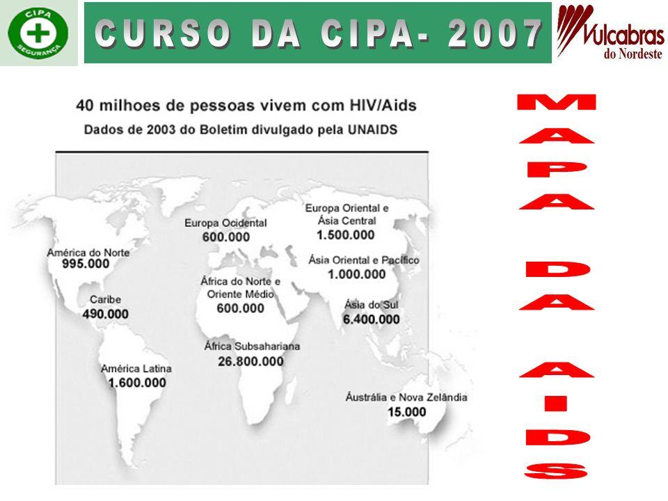 CURSO DA CIPA- 2007 MAPA DA AIDS