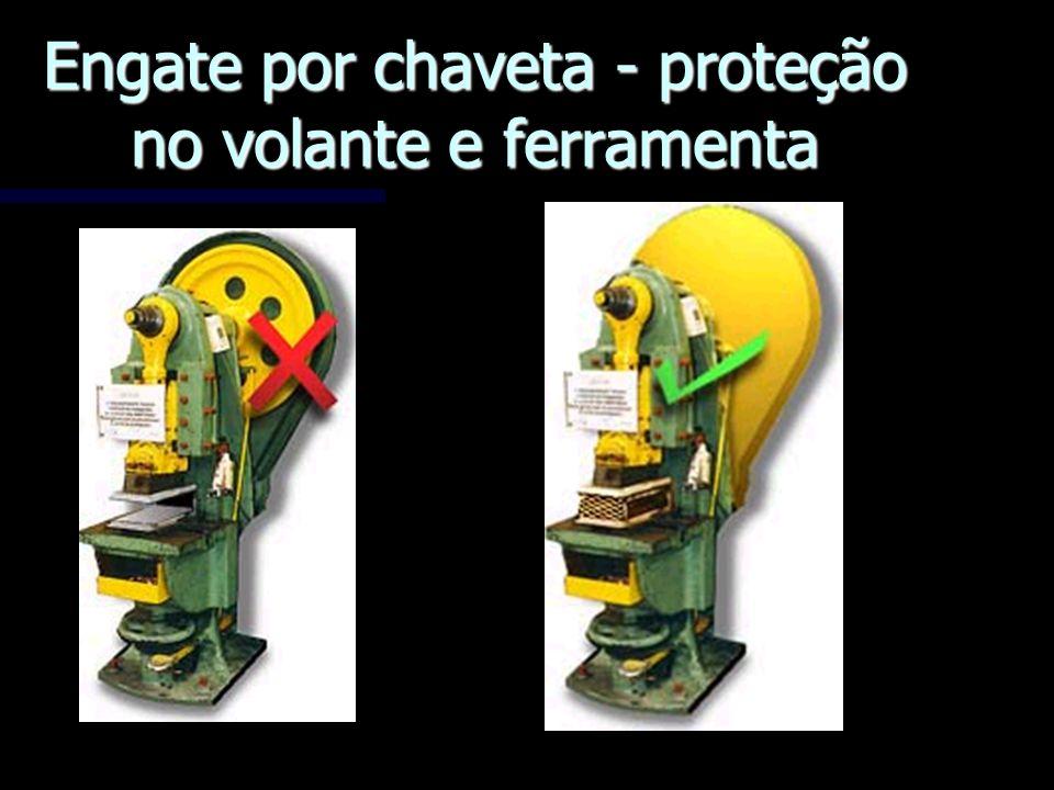 Engate por chaveta - proteção no volante e ferramenta