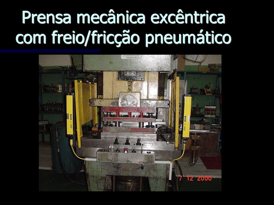 Prensa mecânica excêntrica com freio/fricção pneumático