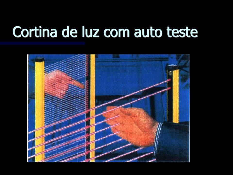Cortina de luz com auto teste
