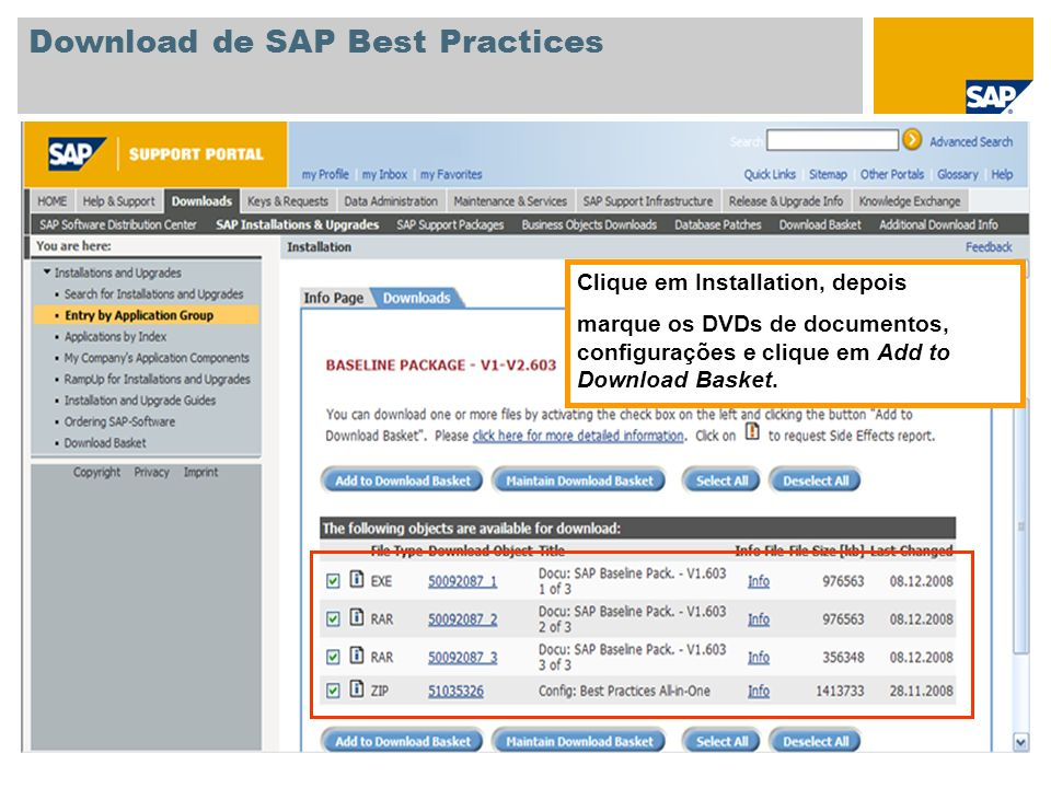 Download de SAP Best Practices